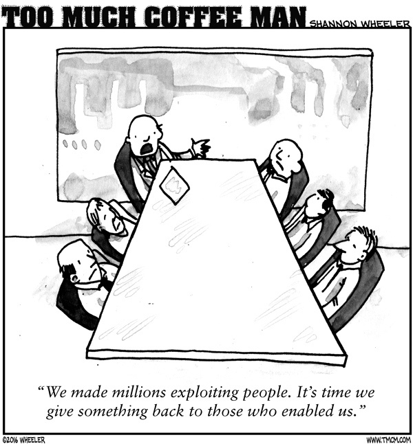Too Much Coffee Man Comic Strip for July 27, 2016