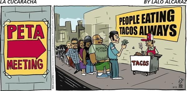 La Cucaracha on Sunday September 13, 2015 Comic Strip