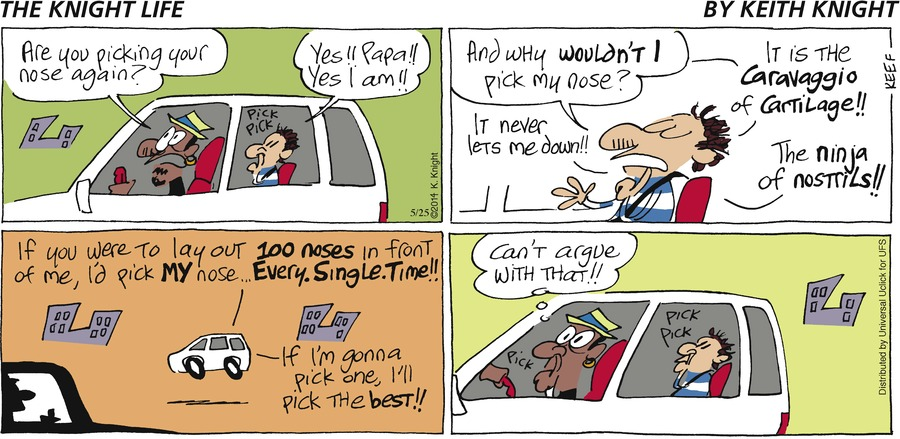 The Knight Life Comic Strip for May 25, 2014