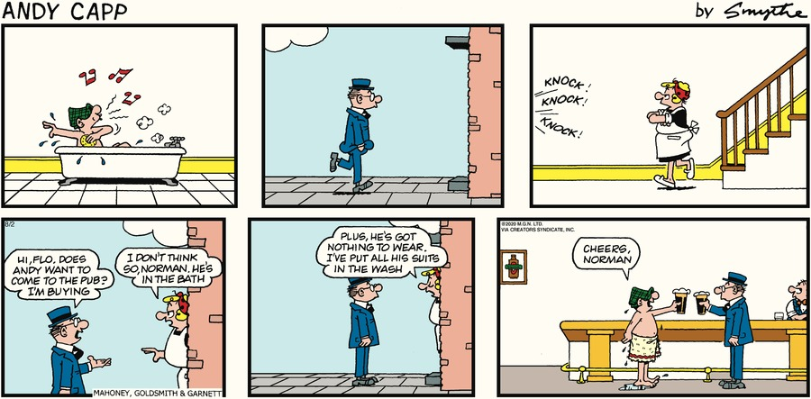 Andy Capp Comic Strip for August 02, 2020