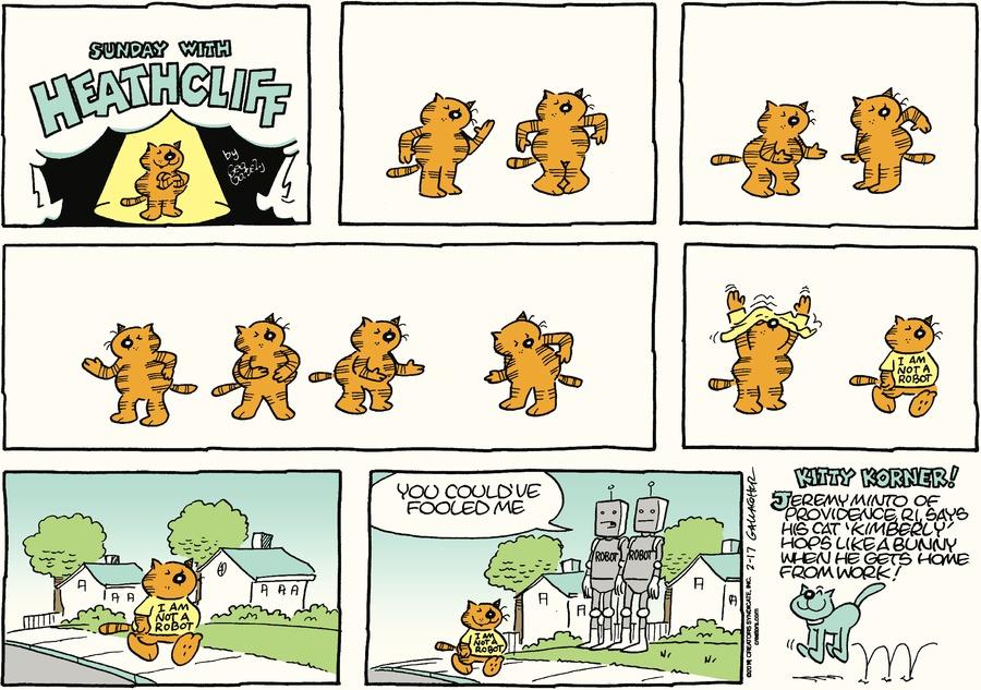 Heathcliff Comic Strip for February 17, 2019