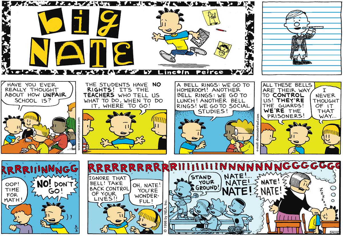 Big Nate Comic Strip for May 03, 1998