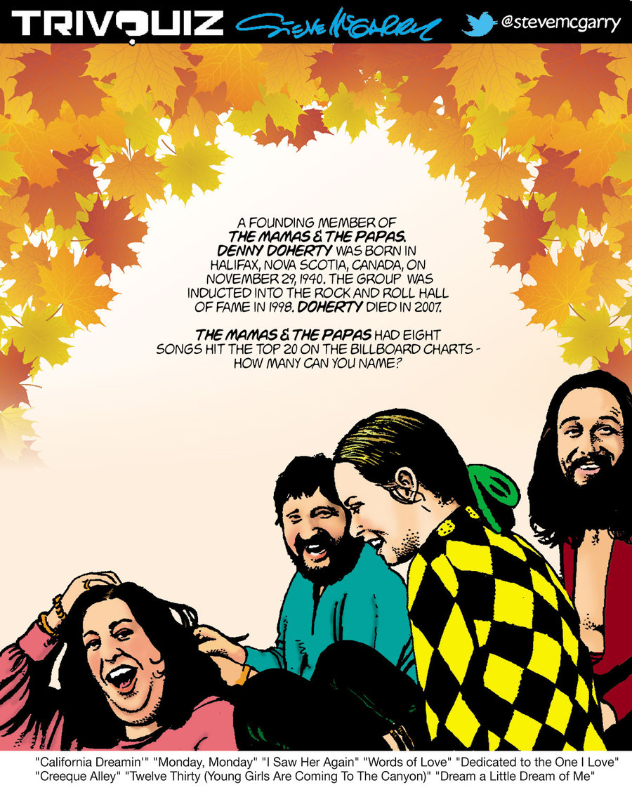 Trivquiz Comic Strip for November 29, 2018
