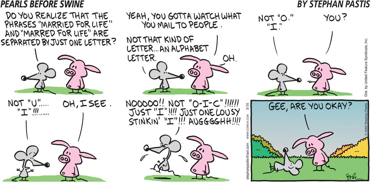 Pearls Before Swine for Mar 31, 2002 Comic Strip