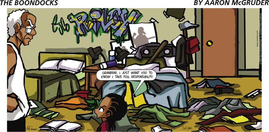 The Boondocks for Oct 16, 2005 Comic Strip