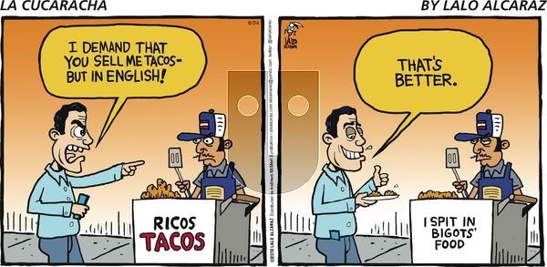 La Cucaracha on Sunday June 24, 2018 Comic Strip