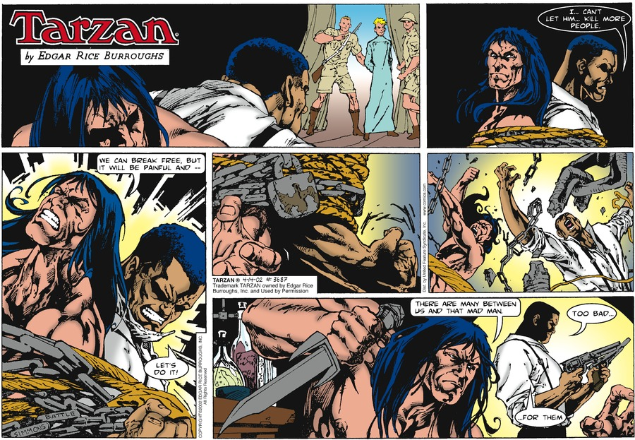 Tarzan Comic Strip for April 14, 2002
