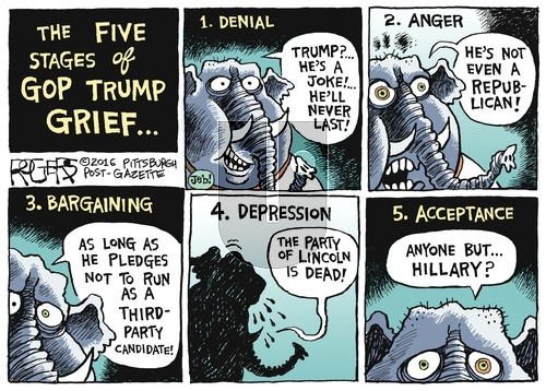Rob Rogers on Sunday June 19, 2016 Comic Strip