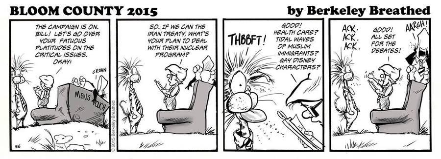 Bloom County 2019 Comic Strip for September 30, 2015