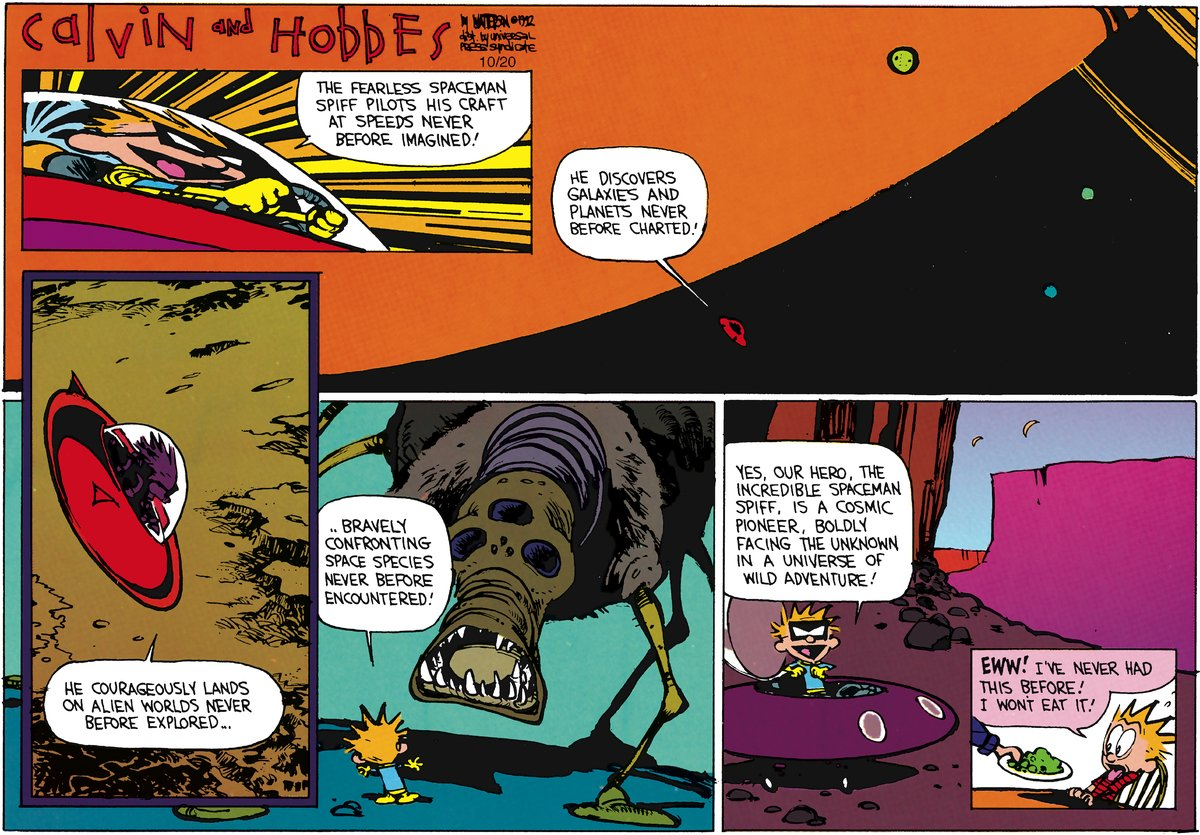 Calvin and Hobbes Comic Strip for December 16, 2012