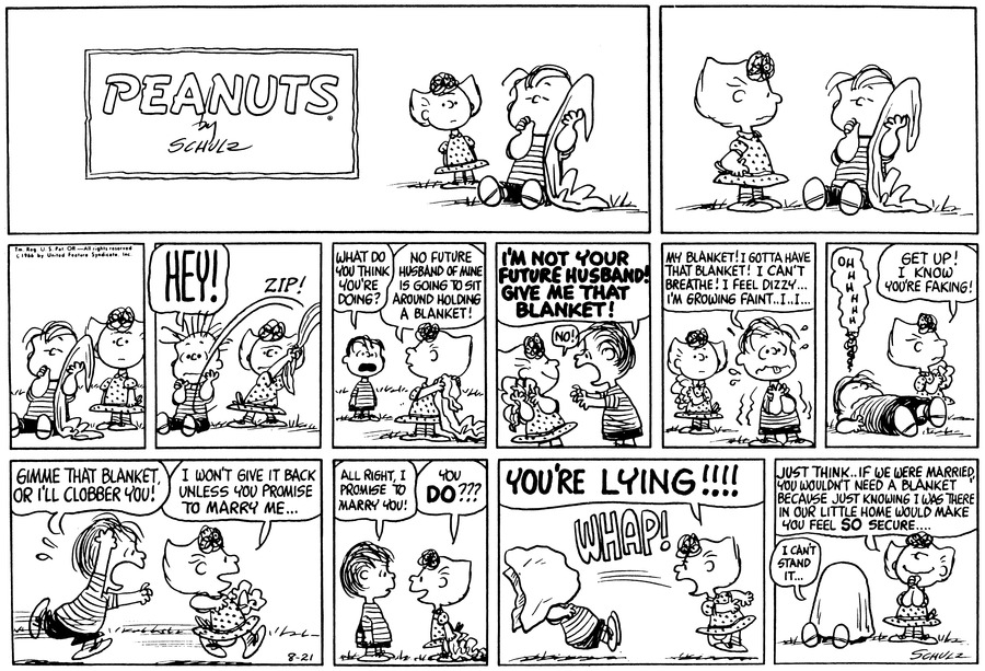 Peanuts Comic Strip for August 21, 1966