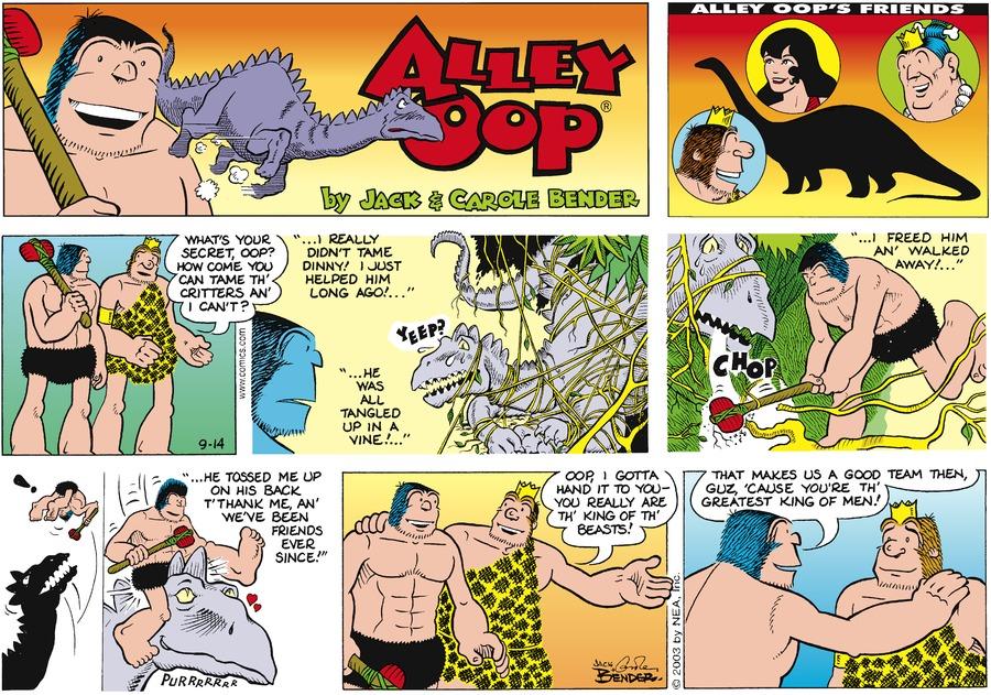 Alley Oop for Sep 14, 2003 Comic Strip