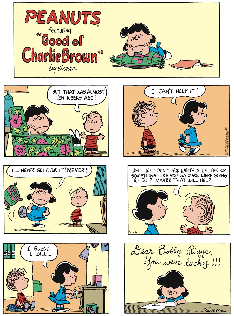 Peanuts Comic Strip for July 12, 2020