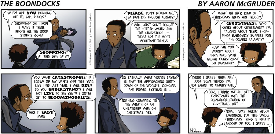 The Boondocks for Dec 19, 1999 Comic Strip