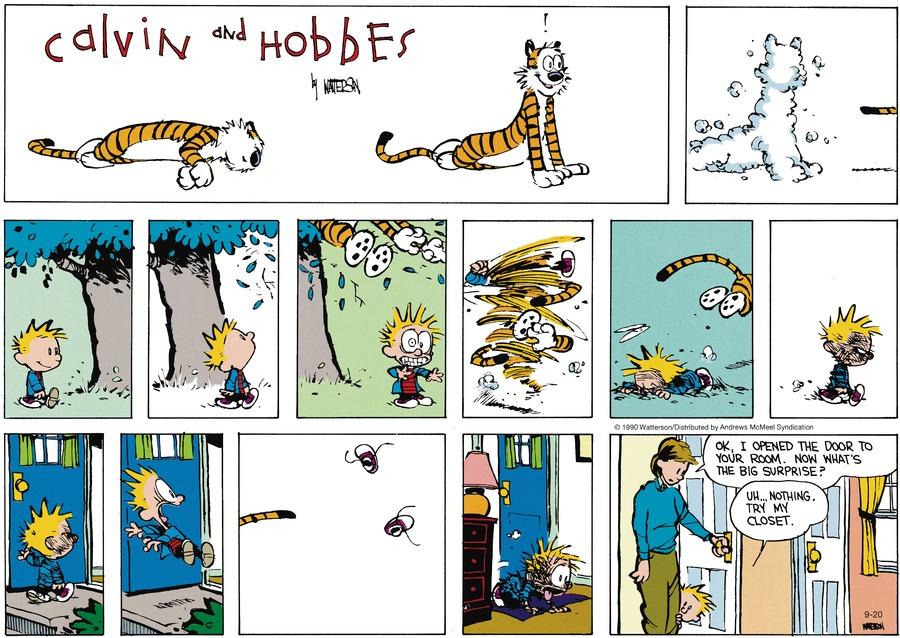 Calvin and Hobbes Comic Strip for September 20, 2020