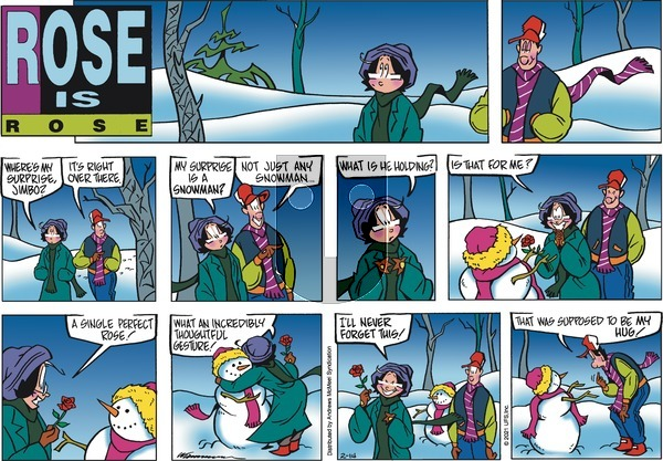 Rose is Rose on Sunday February 14, 2021 Comic Strip