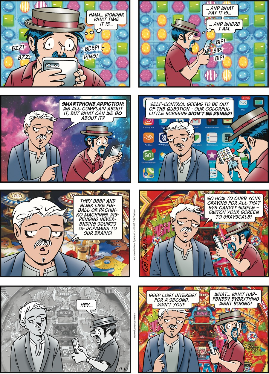 Doonesbury Comic Strip for November 18, 2018