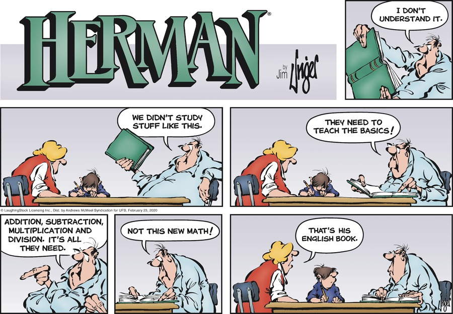 Herman Comic Strip for February 23, 2020