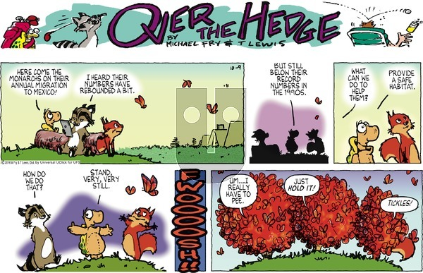 Over the Hedge on Sunday October 9, 2016 Comic Strip