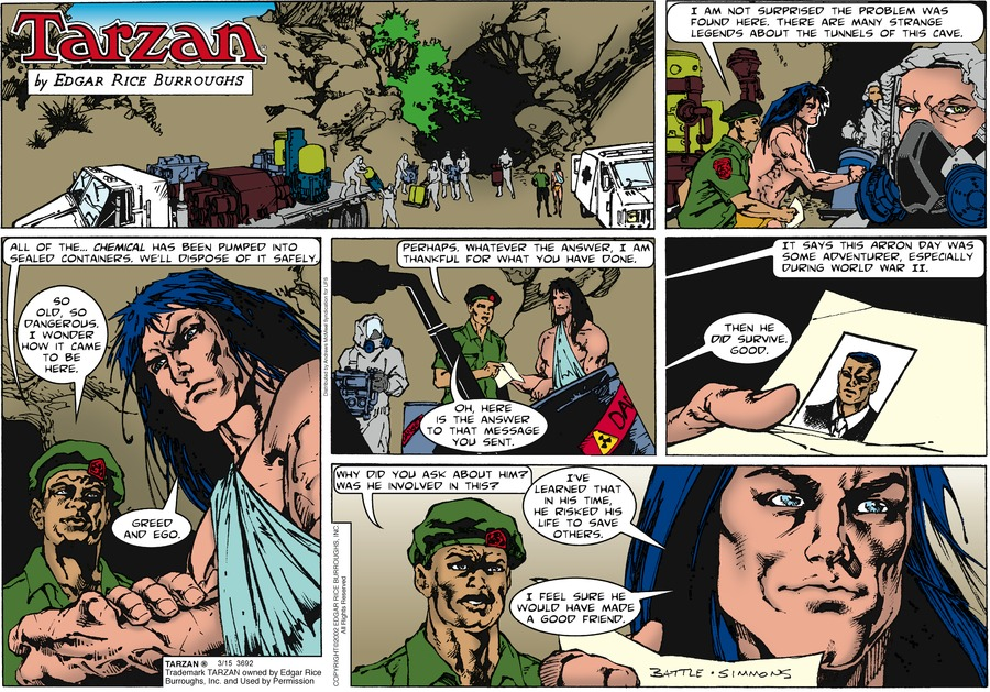 Tarzan Comic Strip for March 15, 2020
