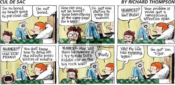 Cul de Sac on Sunday May 17, 2015 Comic Strip