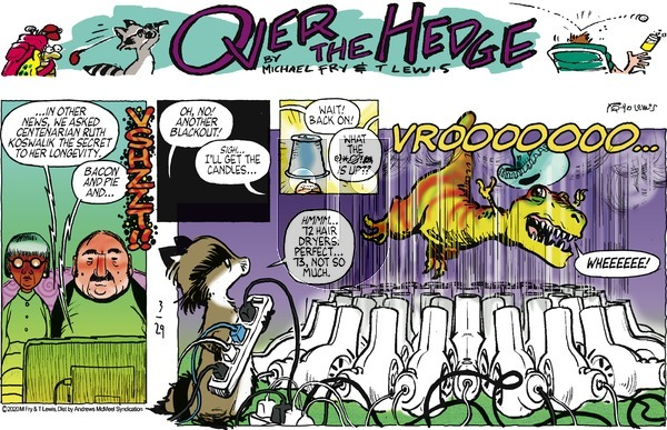 Over the Hedge on Sunday March 29, 2020 Comic Strip