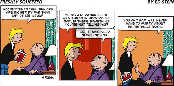 Freshly Squeezed on Sunday January 29, 2012 Comic Strip