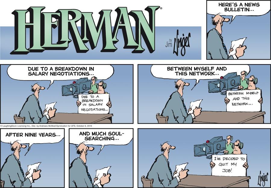 Herman Comic Strip for October 06, 2019