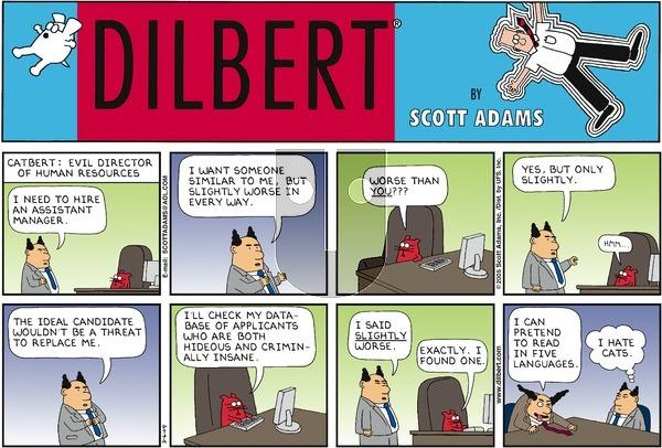 Dilbert on Sunday March 6, 2005 Comic Strip