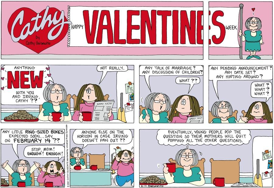 Cathy for Feb 11, 2001 Comic Strip