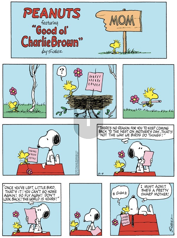 Peanuts on Sunday May 9, 2021 Comic Strip
