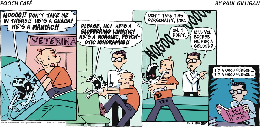 Pooch Cafe for Oct 19, 2014 Comic Strip