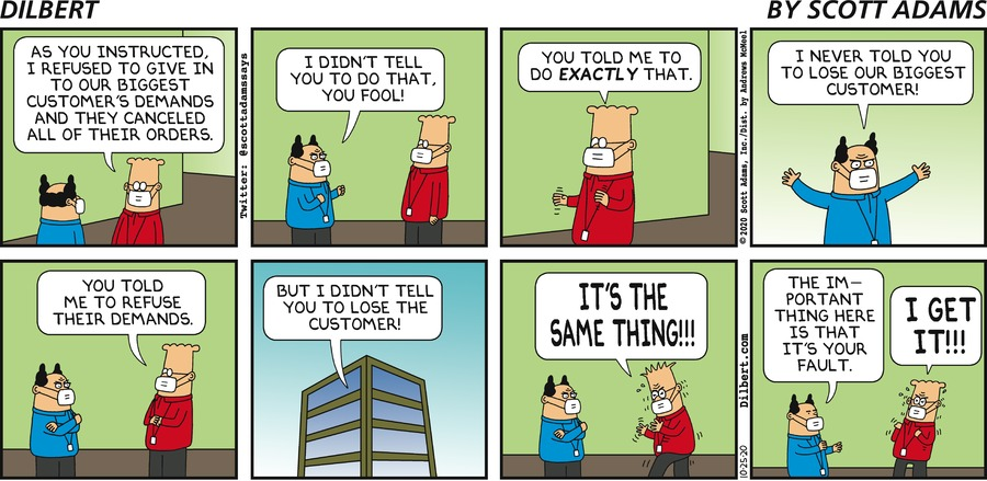 Refusing Customer Demands - Dilbert by Scott Adams