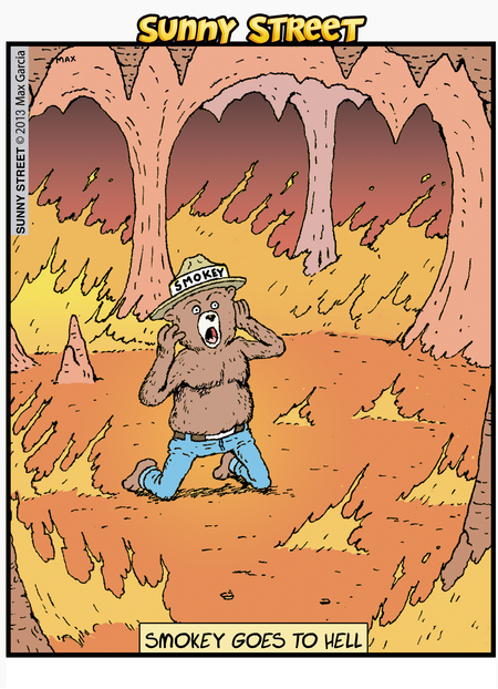 Smokey goes to hell