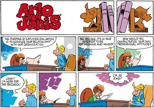Arlo and Janis on Sunday November 4, 2001 Comic Strip