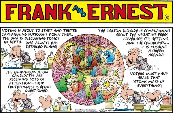 Frank and Ernest on Sunday January 31, 2016 Comic Strip