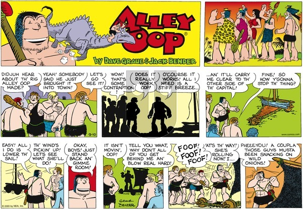 Alley Oop on Sunday September 10, 2000 Comic Strip