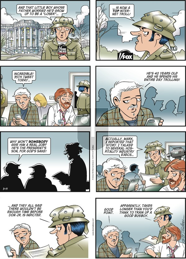 Doonesbury on Sunday March 11, 2018 Comic Strip