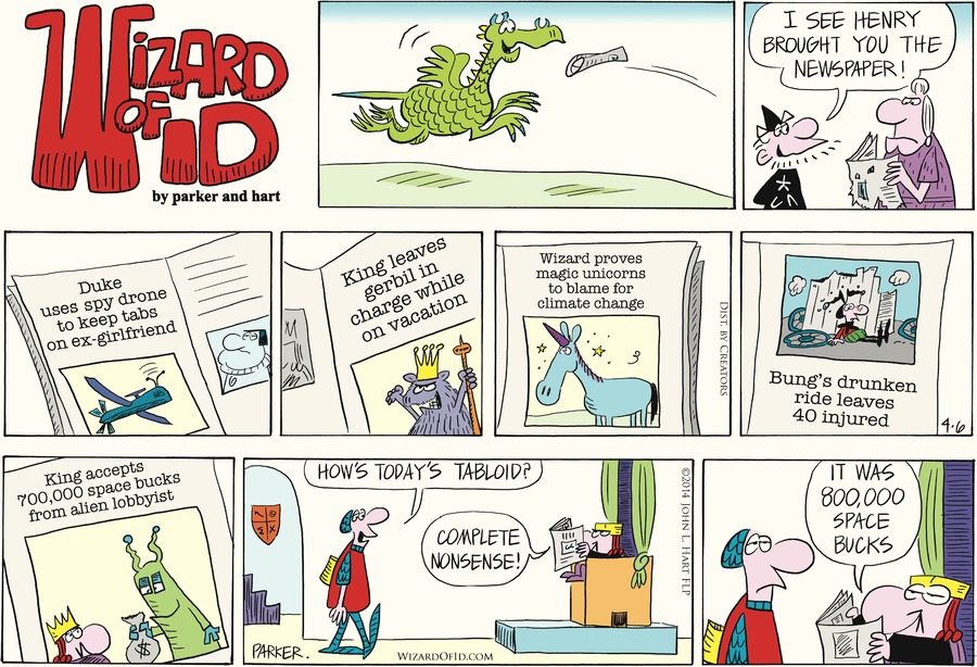 Wizard of Id for Apr 6, 2014 Comic Strip