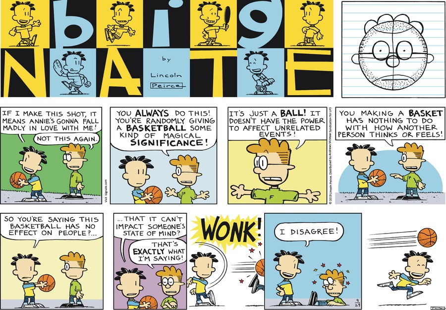 Big Nate Comic Strip for September 29, 2019
