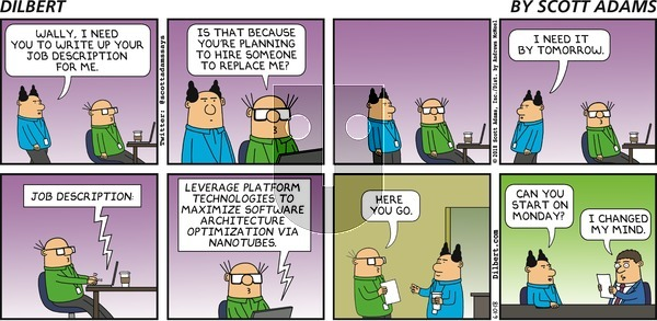 Dilbert on Sunday June 10, 2018 Comic Strip