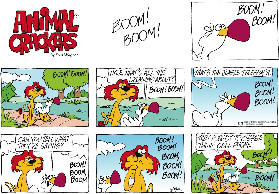 Animal Crackers for Aug 18, 2013 Comic Strip
