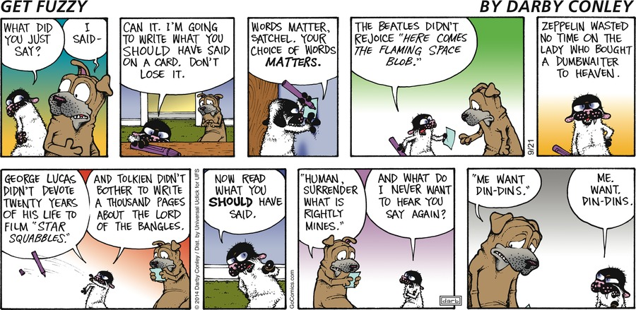 Get Fuzzy Comic Strip for September 21, 2014