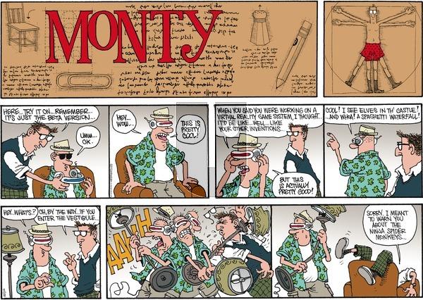 Monty on Sunday February 8, 2015 Comic Strip