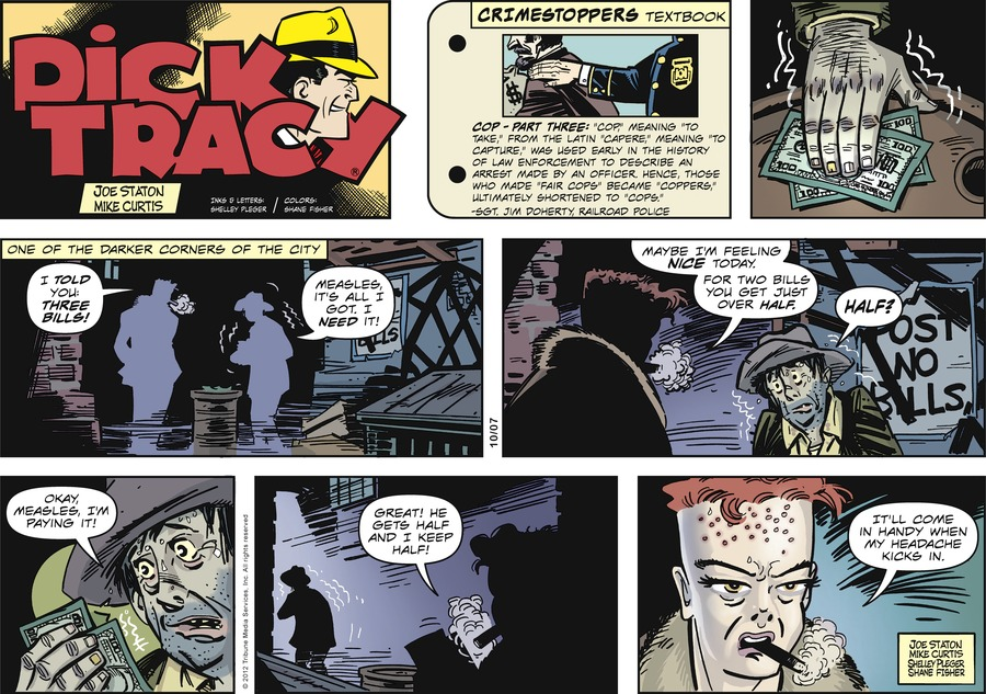 Dick Tracy for Oct 7, 2012 Comic Strip