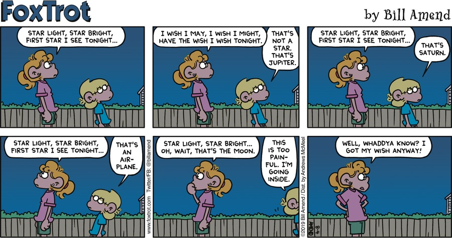 FoxTrot by Bill Amend for August 04, 2019