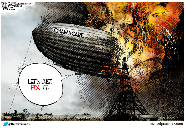 Michael Ramirez for Mar 7, 2017 Comic Strip