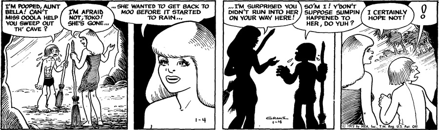 Alley Oop Comic Strip for January 04, 1973