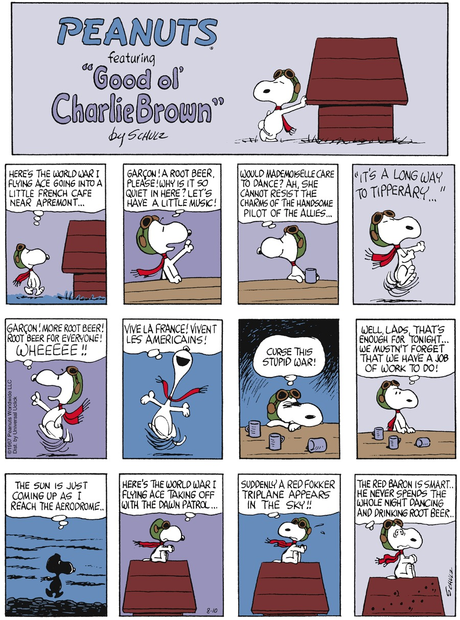 Peanuts Comic Strip for August 10, 2014