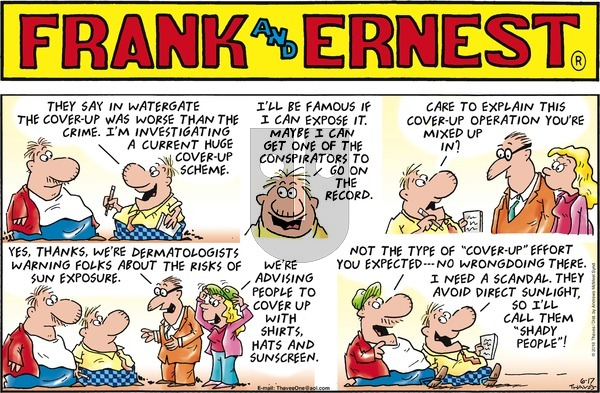 Frank and Ernest on Sunday June 17, 2018 Comic Strip